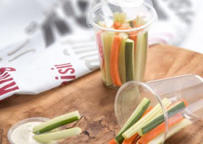 zeleninové tyčinky s dresinkem